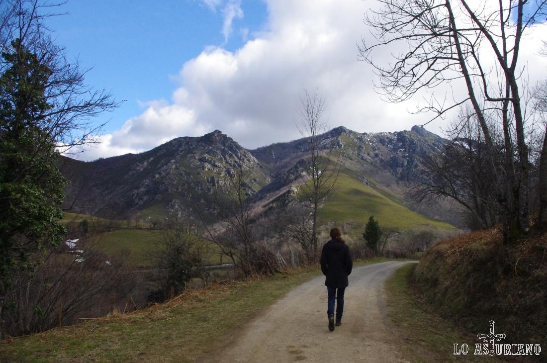 Los picos del valle del río Páramo de nuevo ente nosotros.