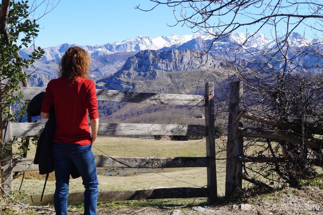 Parada para echar un vistazo a las cimas nevadas de Picos.