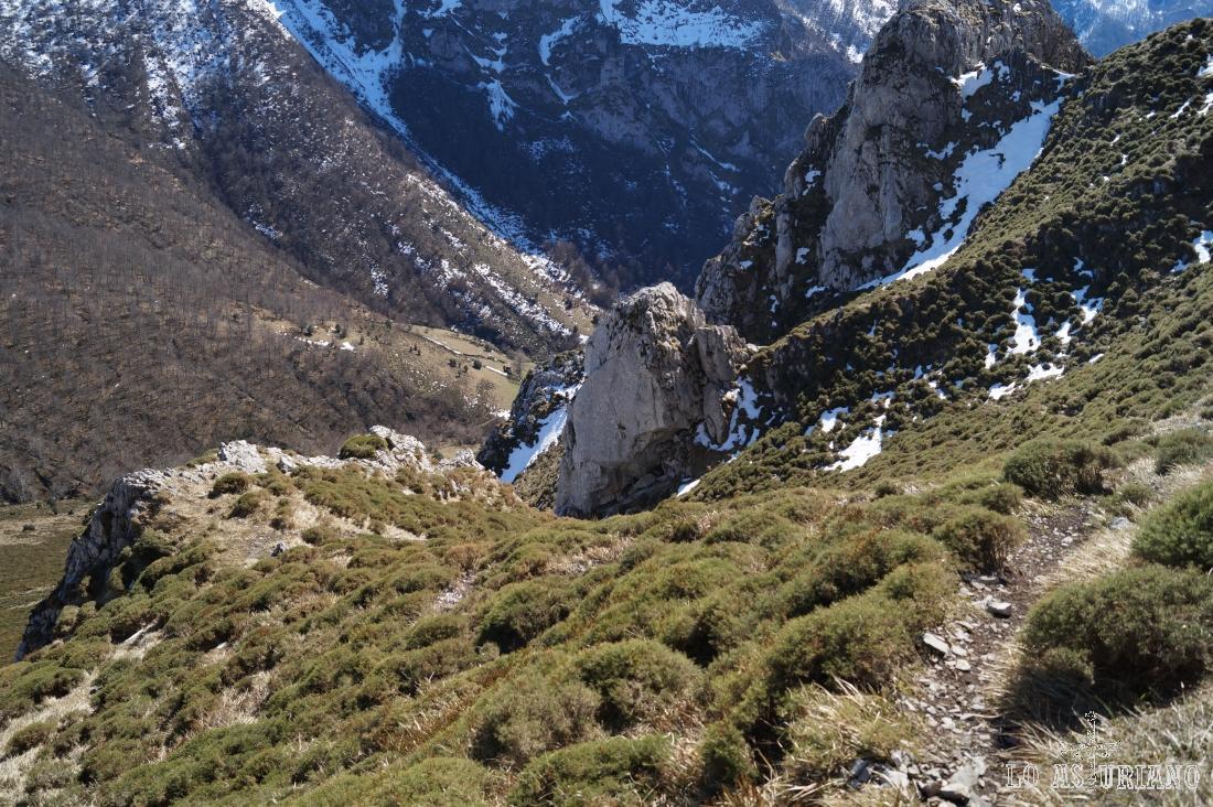 La subida desde la roca del medio es pindia, pindia.