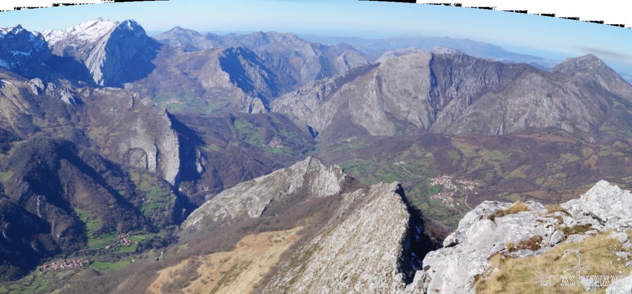 Panorámica de los preciosos recobecos ponguetos desde la cima del Recuencu.