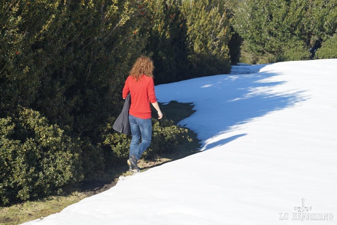 Como ves, la pista anda cargadísima de nieve.