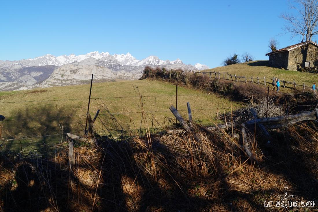 Picos de Europa desde Les Bedules.