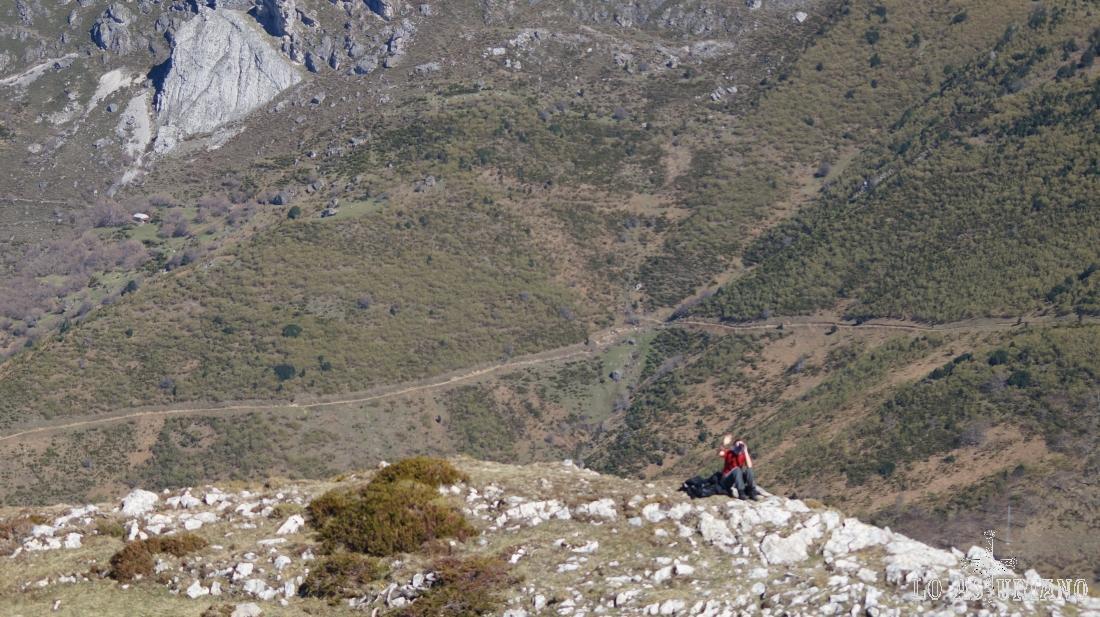 El valle del río Sousas, que ha tomado aguas del río Valle más arriba.