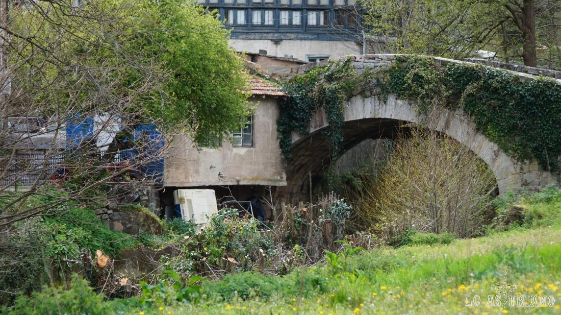 Puente sobre el río de Val de Carzana, en Teverga.