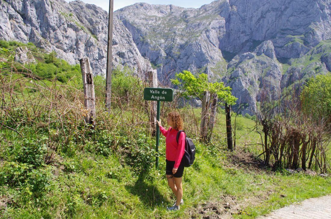 Entrada al valle de Angón, recóndito, pero precioso rincón de Asturias.