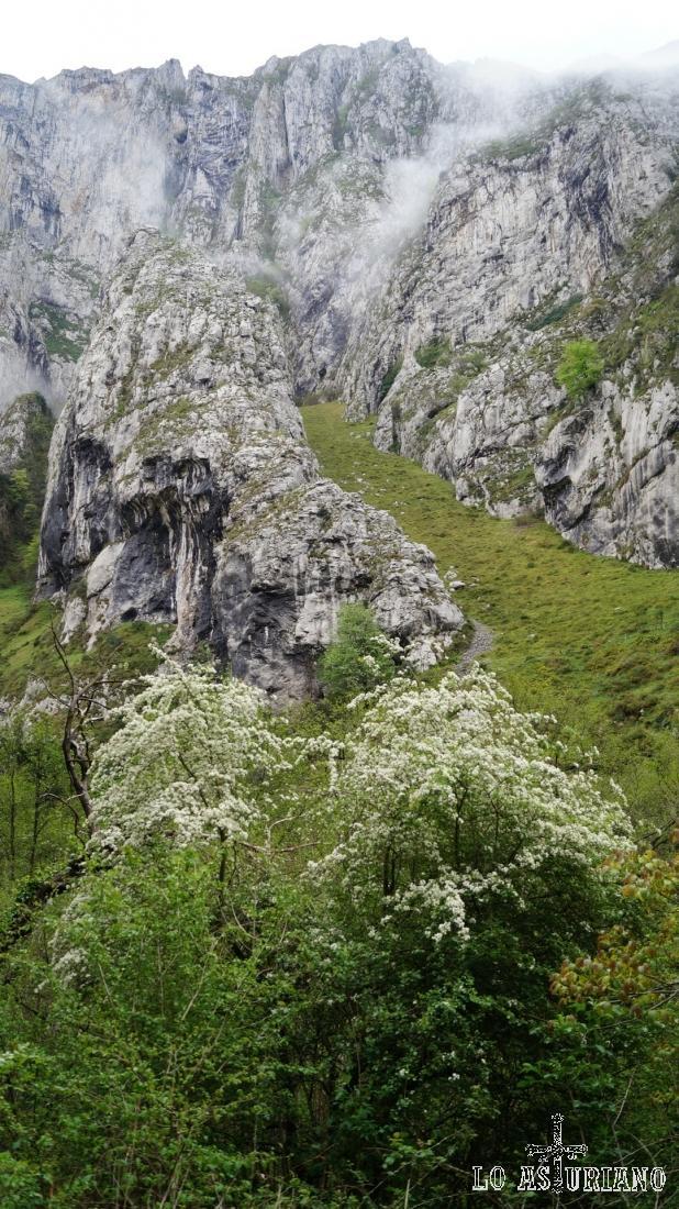 Las impresionantes laderas verticales del desfiladero de Valdecerezales.