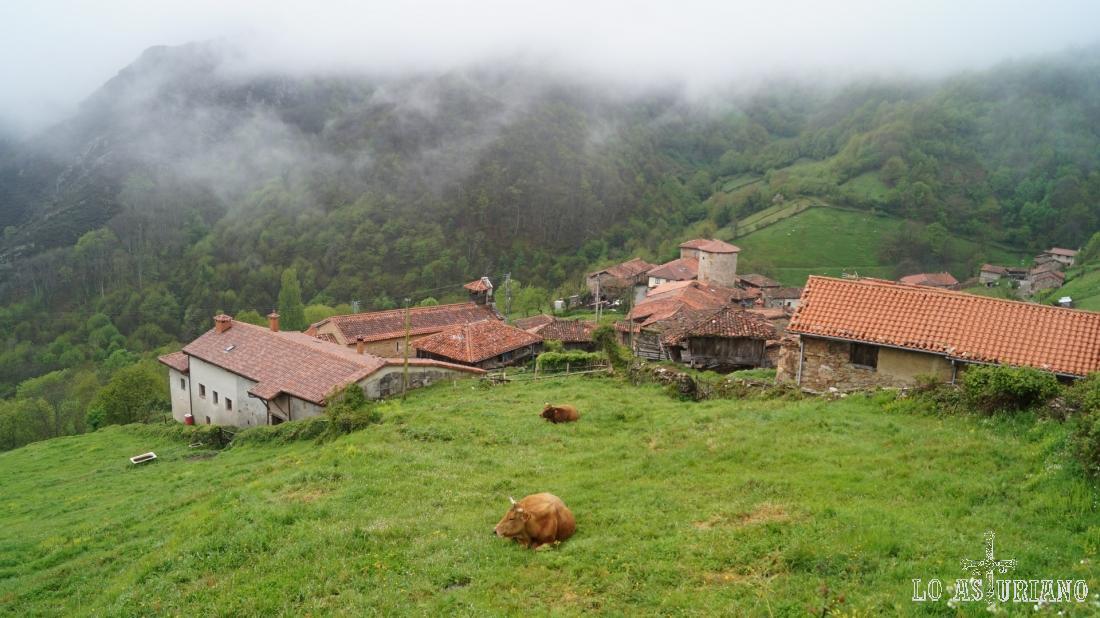 El idílico pueblo de Bandujo, Proaza.