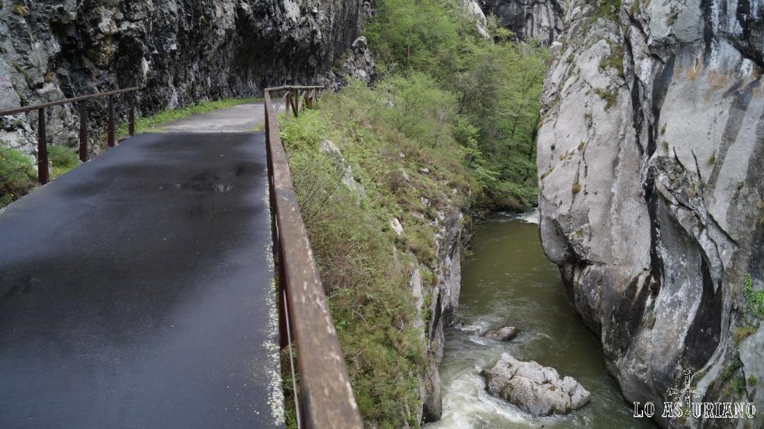 El río Teverga junto a nuestra senda.