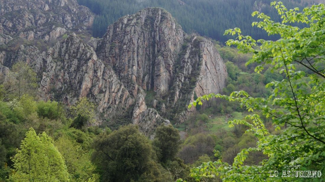 Cárcava, entorno rocoso, donde hay años que se ven osos.