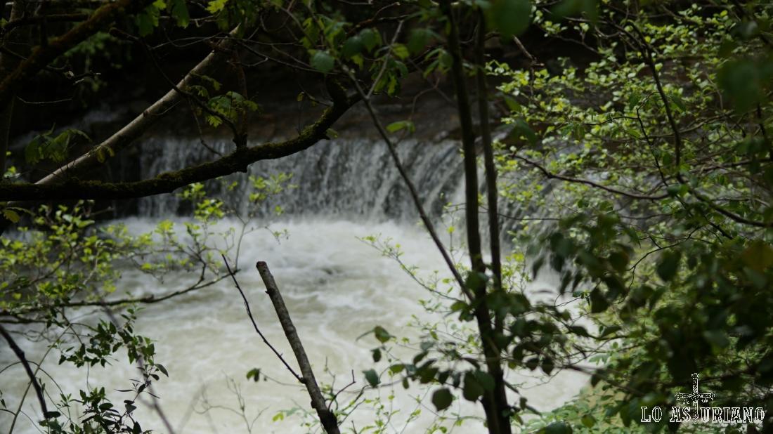 Pequeña cascada en el río Teverga.