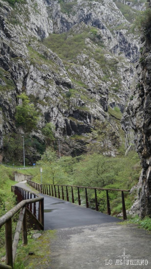 Uno de los puentes que cruzan el Teverga.