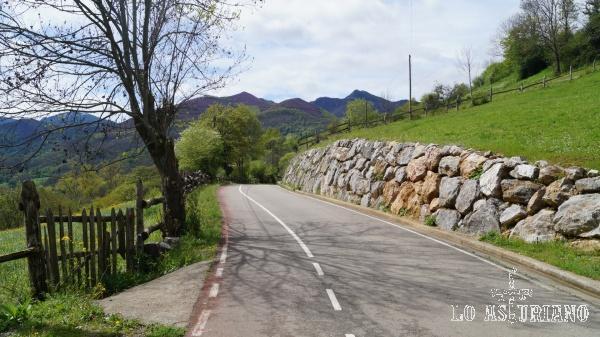 Entre Entrago y San Martín hay apenas 1.1 km por esta carretera, que va por encima de la nacional.