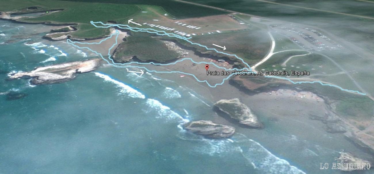playa de las catedrales mapa
