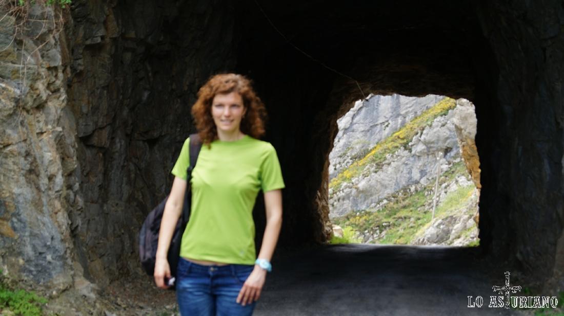 Fotito en el túnel.