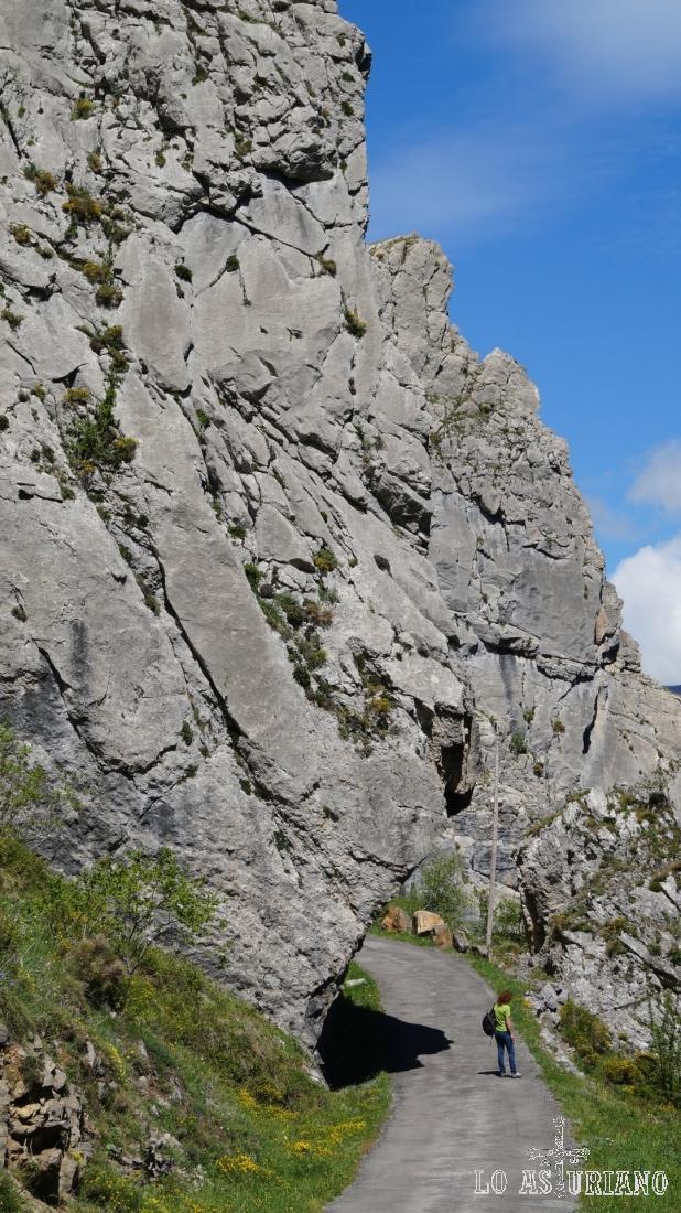 Preciosa zona rocosa en la zona del desfiladero.