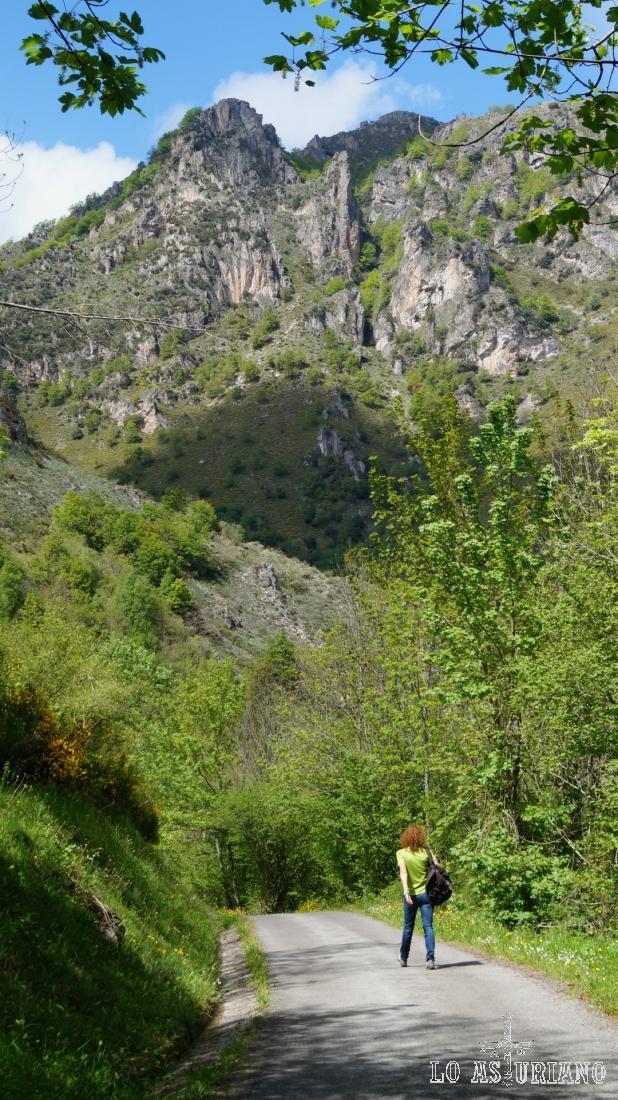 Con las peñas Albas de telón de fondo; no confundir con los picos Albos, del entorno del Lago del Valle.
