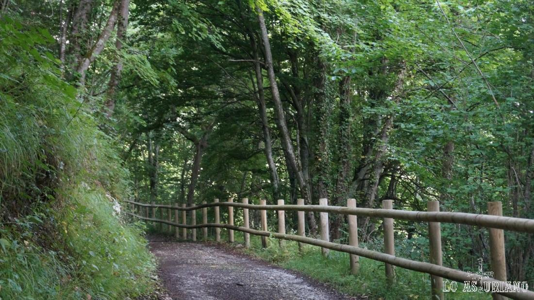 Este tramo es precioso, y como ves, todavía con la valla de madera.