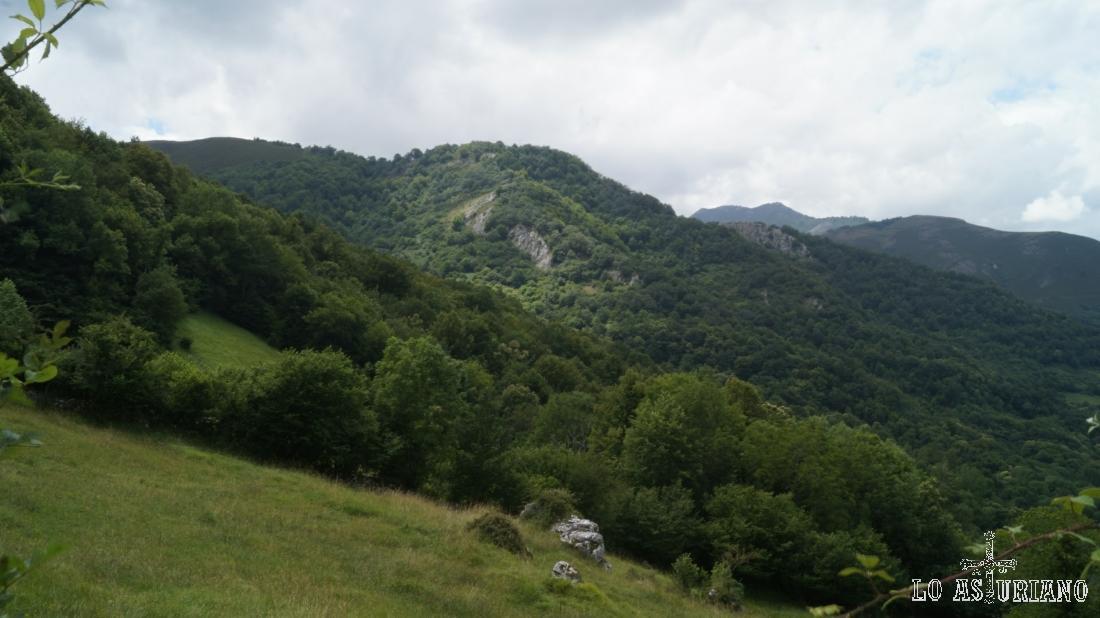 Algunas cumbres como el Punton del Estellero, con algo más de 1000 m.