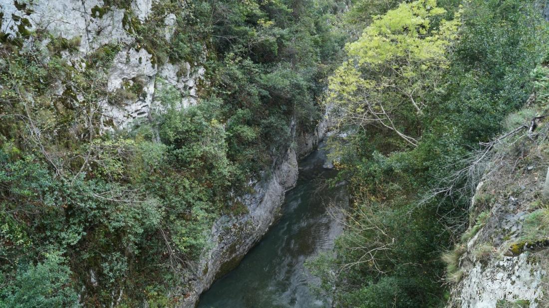 El río Sella en su transitar por el desfiladero de los Beyos, concejo de Ponga, Asturias.