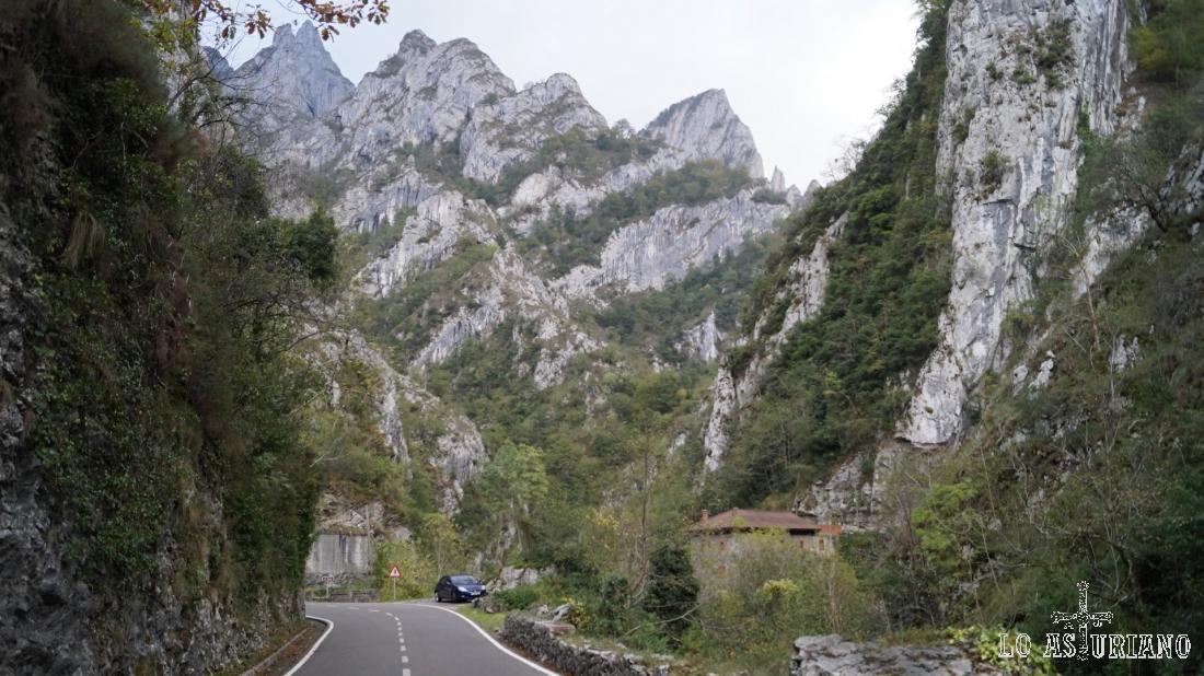 Carretera del desfiladero del Sella, zona de Asturias.