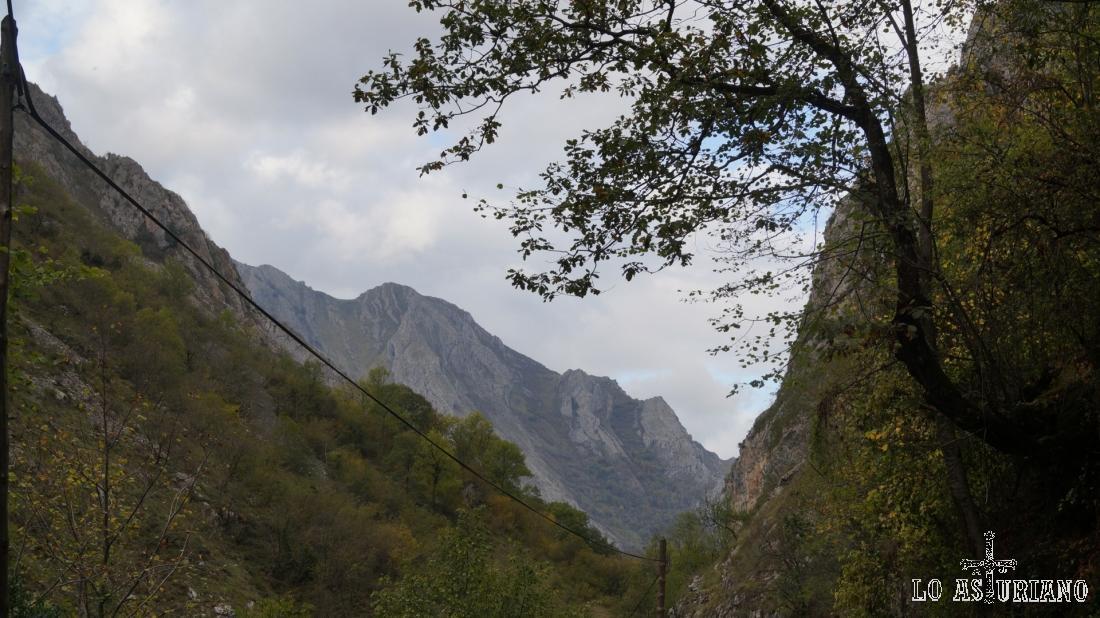 El desfiladero sirve de linde entre Ponga y Amieva, concejos astures, y también entre Asturias y León.