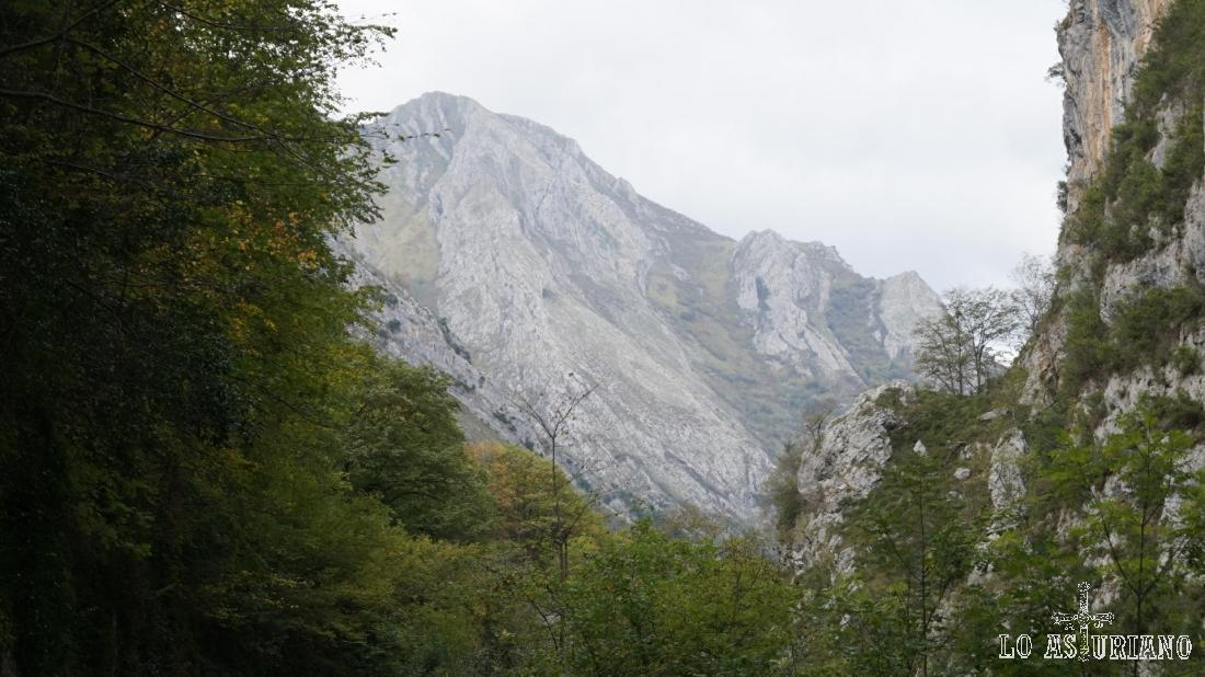 Este es el pico Carriá, visto desde los Beyos.