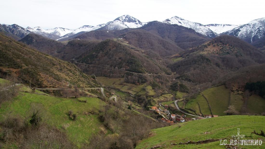 El hayedo de Montegrande a principios de la primavera, con los efectos todavía del largo invierno.