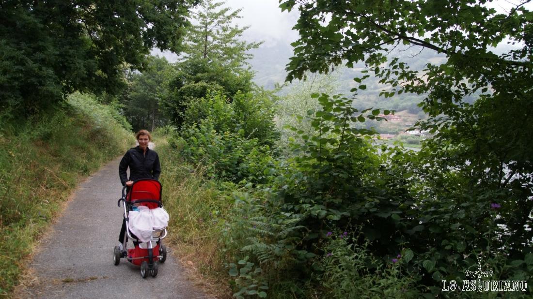 En aproximadamente 1,4 km llegaremos a la carretera que sube a Villaorille.