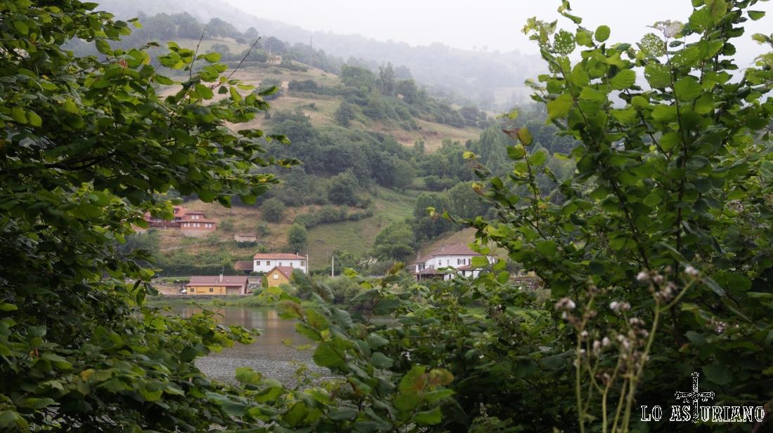 El embalse de Valdemurio, en Quirós, provincia de Asturias.