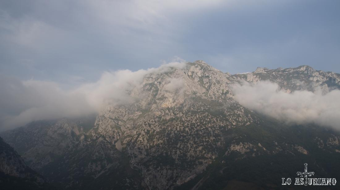 Nieblas rodeando la cima.