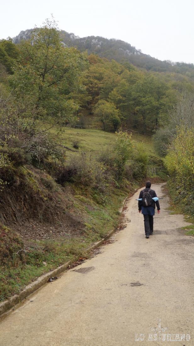 Camino de la Vega Baxu: pista cómoda y con una pendiente sencilla.