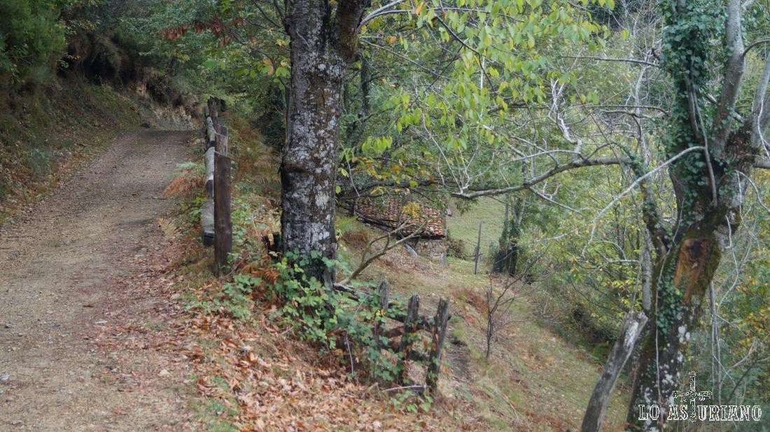 Cabañas camino de vega Baxu, en Caso.