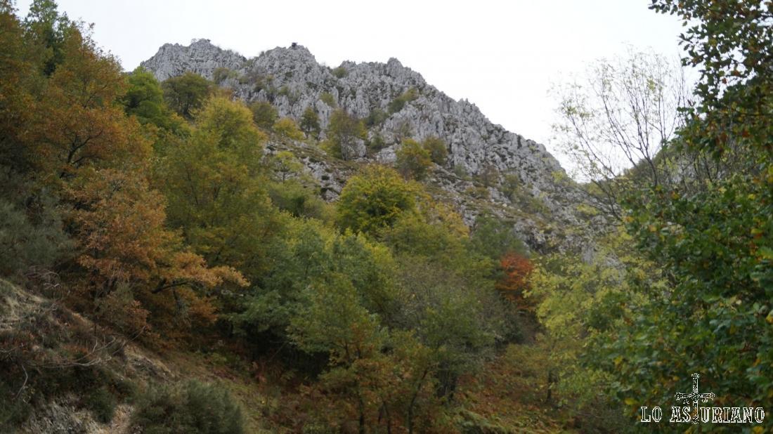 Cerros en el camino a Vega Baxu, Redes.