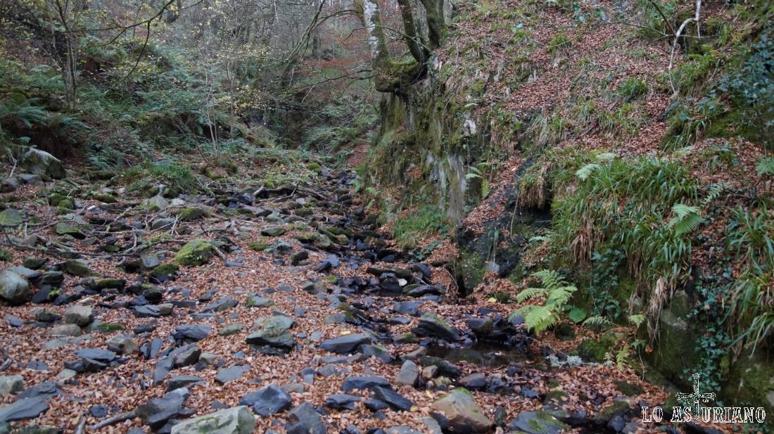 El arroyo de Ordalecha, en el valle de Gedrez.
