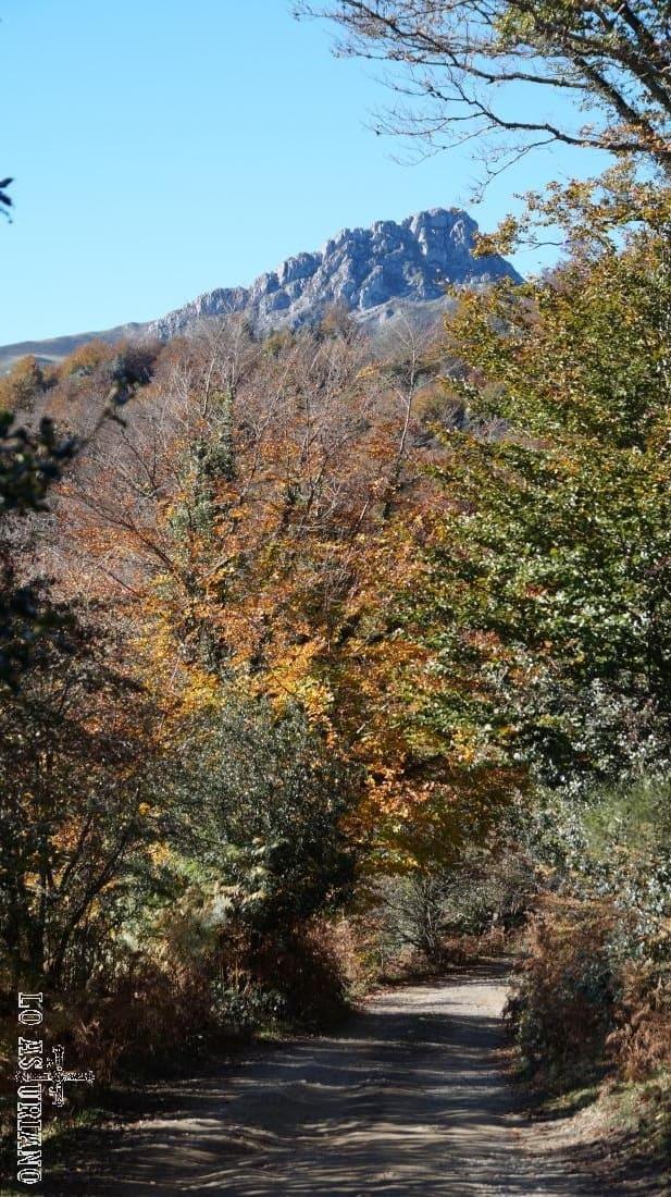 El pico Luengu al fondo.