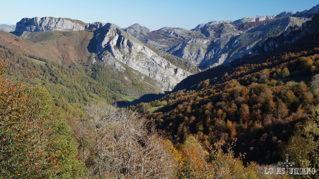 El vallecín del río Suergu.