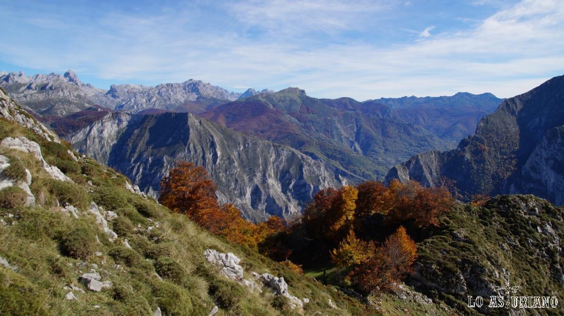 Espectaculares paisajes en la Cordillera Cantábrica.