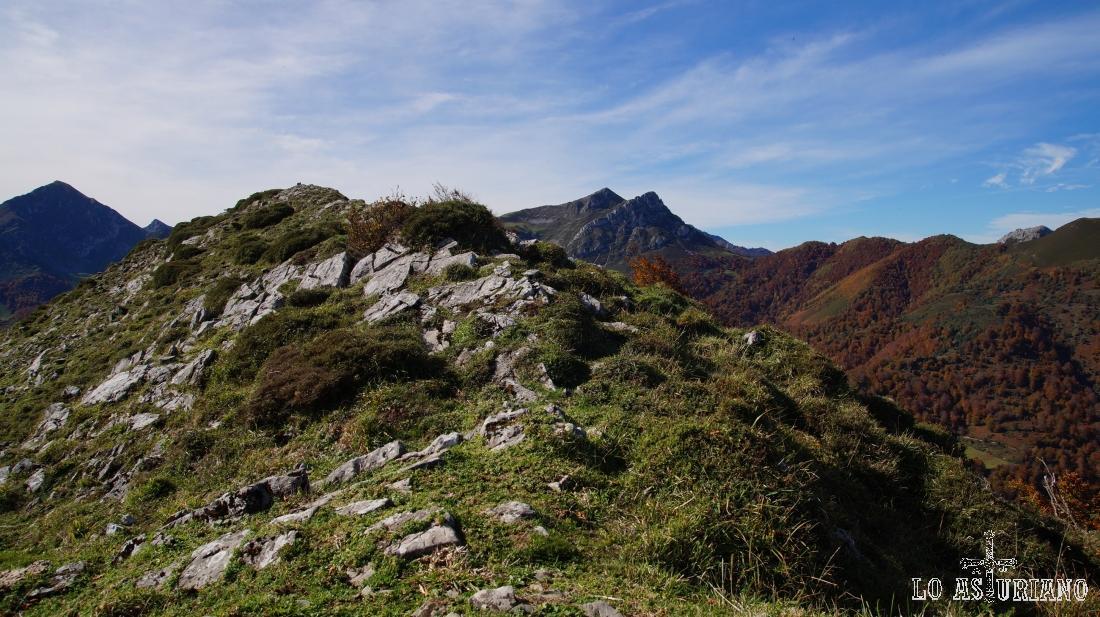 La cima del Sen de los Mulos, en el Parque Natural de Ponga.