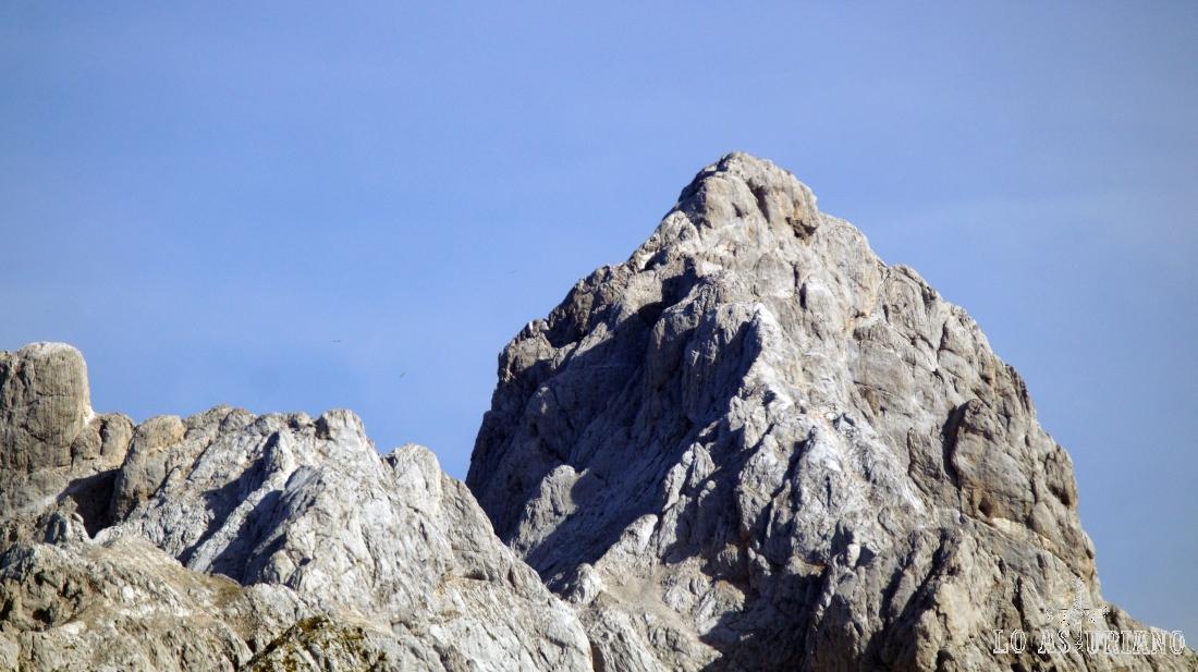 La peña Santa, desde el Sen de los Mulos, en Ponga.