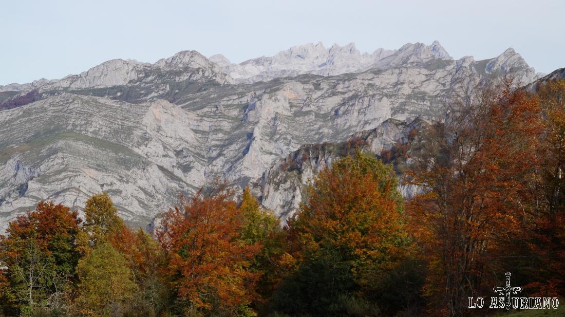 Las moles calcáreas de los bellísimos Picos de Europa.