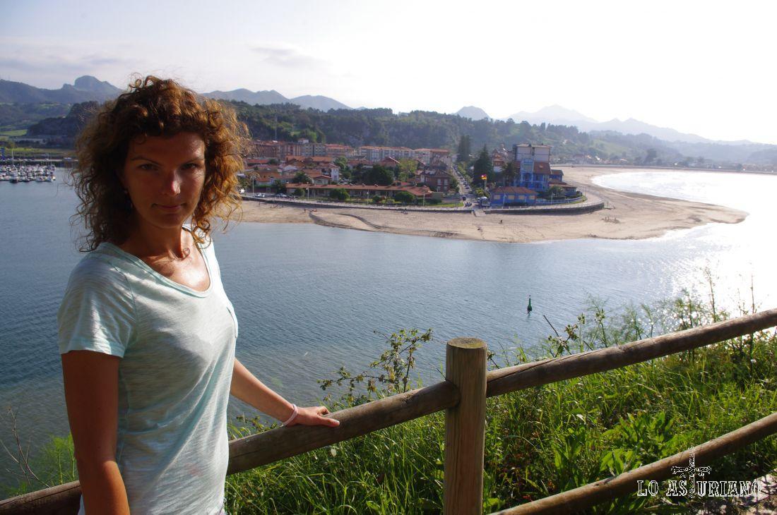 Playa de Santa Marina, en la curva de la ría.