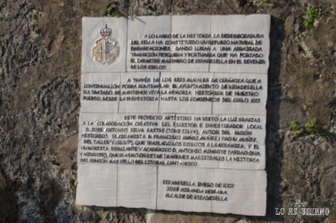 Presentación de los 6 murales de cerámica de Antonio Mingote, en el Paseo de la Grúa...