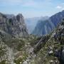 Desde las laderas del Jultayu, vistas a la canal del Trea y al desfiladero del r�o Cares.