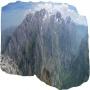 Macizo central de los Picos de Europa y el desfiladero del Cares, desde el pico Jultayu.