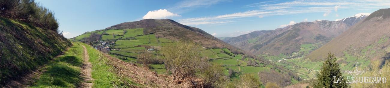 El camino, Vallado, pico Matiecha, el valle de Cibea.