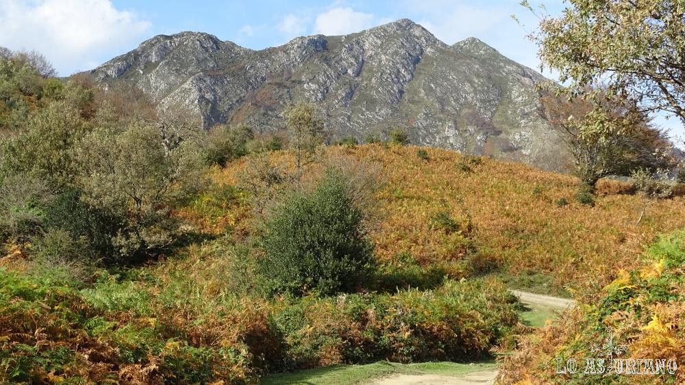 El pico Pierzu, desde la pista que viene de collado Llomena.