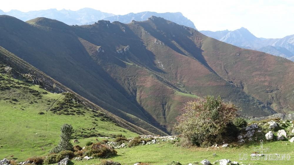 Las laderas norte de la sierra de Aranga.