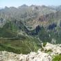 El lago de la Cueva desde la cima del alto de los Bígaros, Somiedo.