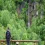 Cascada de La Llamera desde la aldea.