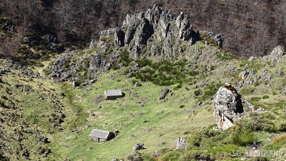 Braña de Bustietchu, subiendo desde La Llamera, Somiedo.